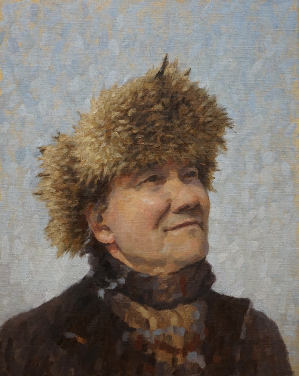 HRM with fur hat